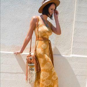 Novella Royale Maxi Dress in Gold Dahlia